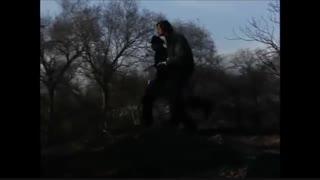 مبارزه آرنولد  با خرس - قسمتی از فیلم هرکول در نیویورک