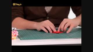 آموزش اوریگامی توت فرنگی