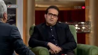 گفتگوی مهران مدیری با ایمان مرآتی، خبرنگار تلویزیون و گیرنده املاک نجومی  در برنامه دورهمی