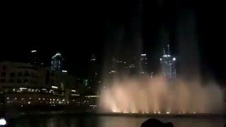 برج خلیفه برا خوشامدگویی ب اکسو باز اهنگ پاورو پخش کرده