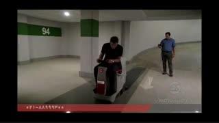 نظافت پارکینگ طبقاتی با اسکرابر / دستگاه زمین شور سرنشین دار / کفشوی صنعتی