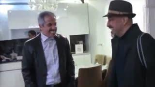 رضا عطاران در لوکیشن فیلم لازانیا
