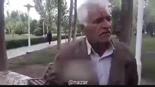 """یکی از کشاورزان معترض اصفهانی: """"چرا نمیذارین مردم حرفشون رو بزنن. مردم حقشون رو میخوان"""""""