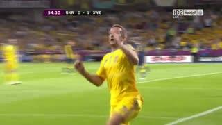 گل آندری شوچنکو به سوئد در یورو 2012