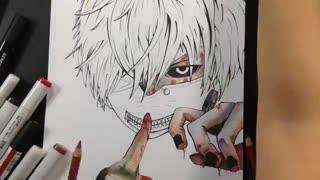 آموزس نقاشی از توکیو غول)حرفه ای(