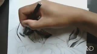 نقاشی   فوق حرفه ای از تو کیو غول