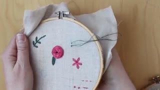 آموزش گلدوزی bloom 7