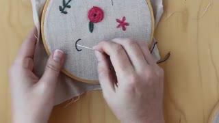 آموزش گلدوزی bloom 8