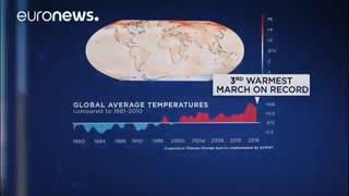 تغییرات آب و هوایی مارس ۲۰۱۸؛ از برف نارنجی تا موج گرما