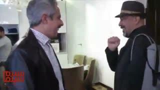 رضا عطاران در پشت صحنه فیلم «لازانیا»
