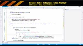 کنترل ربات تلگرام - قسمت چهارم
