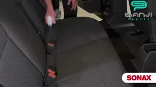 آموزش استفاده از اسپری فوم تمیزکننده پارچه و جیر روکش صندلی خودرو سوناکس-Sonax -گنجی پخش