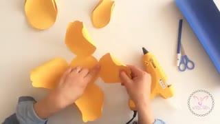 Solis_Arts: کاردستی گلی زیبا با کاغذ و مقوای رنگی