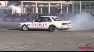 دریفت در پیست نمایشگاه بینالمللی خودرو تهران