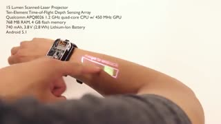 نمونه آزمایشی ساعت هوشمند LumiWatch