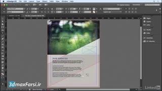آموزش وارد کردن متن نوشته به صفحه ایندیزاین InDesign CC 2018 editing text