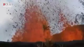 آتشفشان در حیاط منزل!