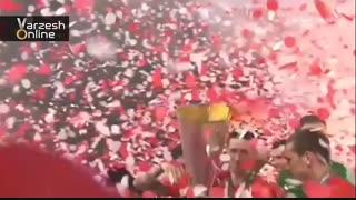 جشن قهرمانی اتلتیکومادرید پس از پیروزی مقابل مارسی و فتح لیگ اروپا