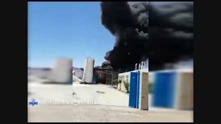 آتش سوزی در مخازن الکل و تینر یکی از واحدهای شهرک صنعتی رازی شهرضا