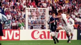 گل مایکل اوون به آرژانتین در جام جهانی 1998