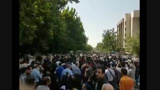 شعارهای سیاسی مراسم خاکسپاری مرحوم ناصر ملک مطیعی