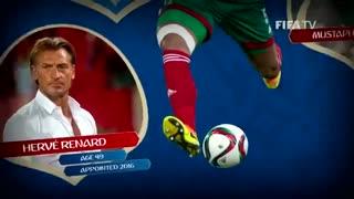 معرفی تیم ملی مراکش توسط فیفا