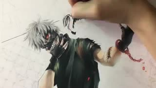 (Drawing anime (tokyo ghoul