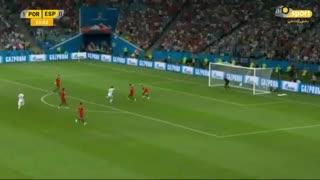 گل اول اسپانیا به پرتغال