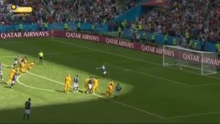 گل اول فرانسه به پرتغال از روی نقطه پنالتی