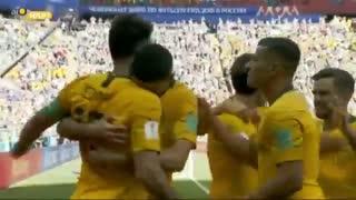در نتیجه و پنالتی  مساوی! گل  استرالیا به فرانسه