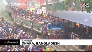 هجوم مردم بنگلادش به قطارها و کشتیها، برای بازگشت به سوی خانواده در شب عید فطر