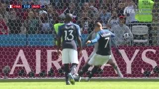 خلاصه بازی  فرانسه - استرالیا در جام جهانی 2018 روسیه