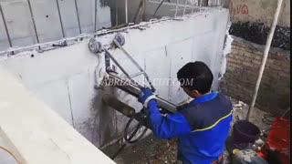 کرگیری از دیوار بتنی