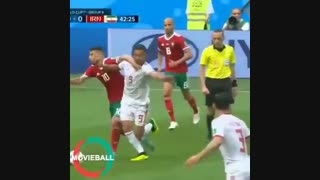 امید ابراهیمی در جام جهانی 2018 روسیه مقابل مراکش