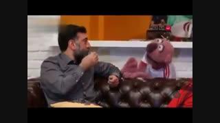 قاچ خندوانه - تف کردن جناب خان به علی انصاریان