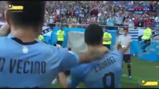 روشن شدن موتور گلزنی ال پیستولرو ؛ گل اول اروگوئه به عربستان