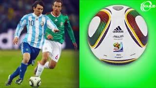 تغییرشکل توپ های جام جهانی فوتبال در تاریخ