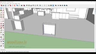 آموزش طراحی کابینت آشپزخانه با اسکچاپ 2018- قسمت 17
