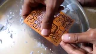 آموزش ساخت برد مدار چاپی (PCB) در خانه