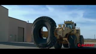 ویدئویی جذاب از تایر بزرگترین خودروی جهان و روش نگهداری از آن