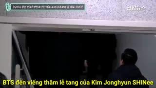 حضور پسرای بی تی اس برای مراسم ختم جونگهیون عضو شاینی :(