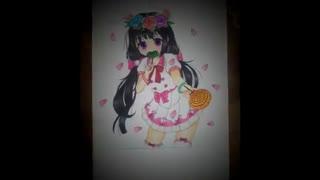 نقاشی دختر انیمه ای (ریونا)