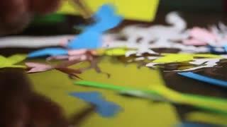 ویدئوی مراحل کار تولید هنر کاغذ و برش