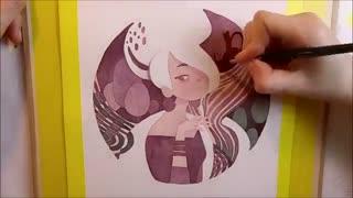تایم لپس تصویرسازی آبرنگ