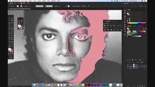 آموزش ساخت پوستر وکتور از روی چهره مایکل جکسون
