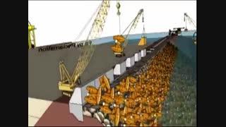 A glance into the construction of the port /یک نگاه اجمالی در ساخت بندر