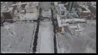 نمائی از زمستان در شهر زیبای ایروان