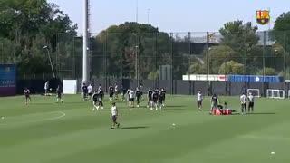 مراسم کامل معارفه کلمنت لنگلت بازیکن جدید بارسلونا