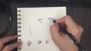 آموزش قدم به قدم نقاشی چشم انیمه ای ^-^