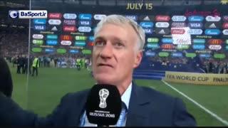 مصاحبه با دشان پس از پیروزی در جام جهانی